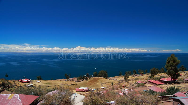 Lake Titicaca stock image