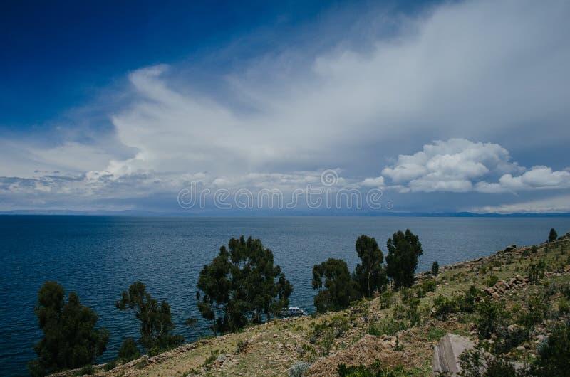 Lake Titicaca royaltyfria bilder