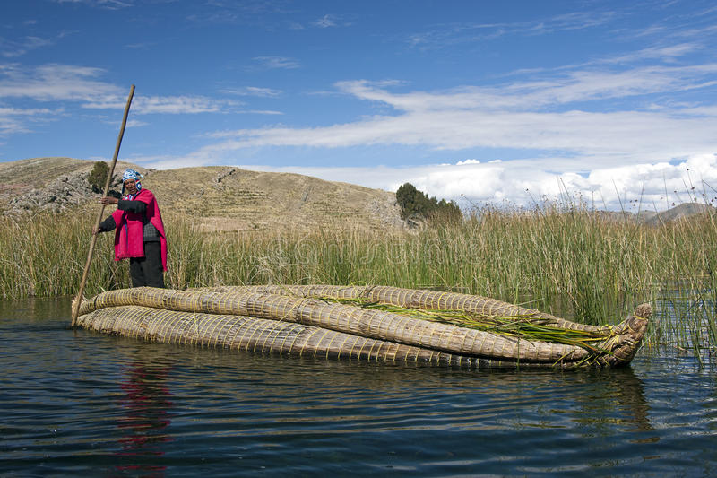 Lake Titicaca in Bolivia royalty free stock photography