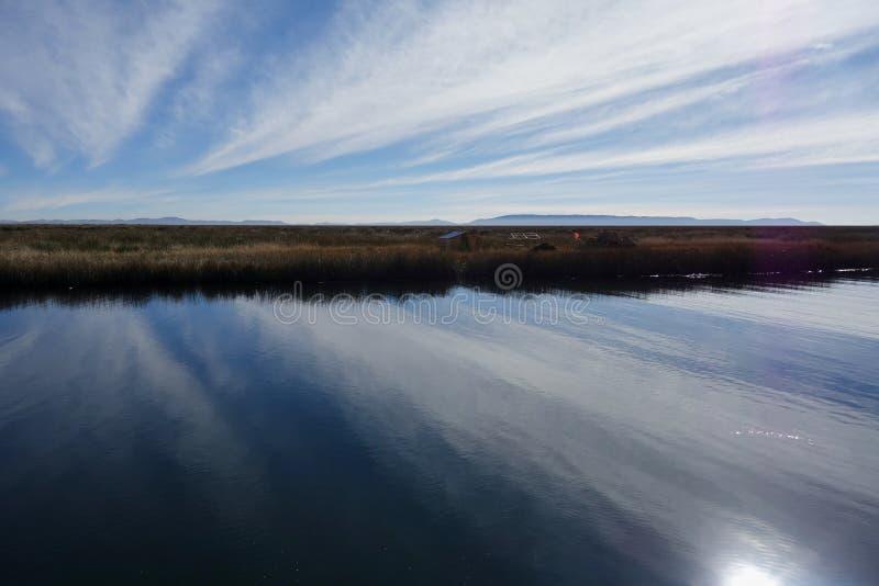 Lake Titicaca, Peru. Clouds over Lake Titikaka, Peru royalty free stock photography