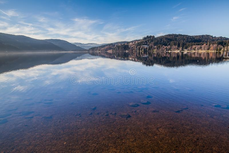 Lake Titisee in Black Forest, Germany stock photos