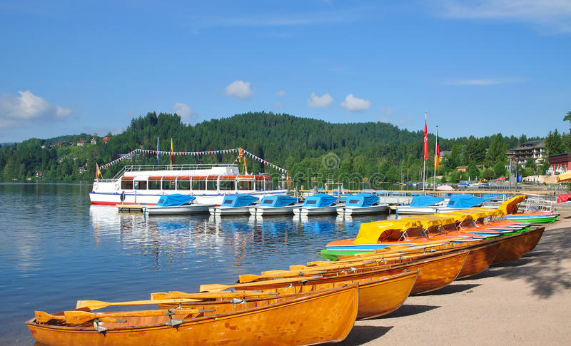 Lake Titisee, Black Forest, Schwarzwald, Germany royalty free stock images