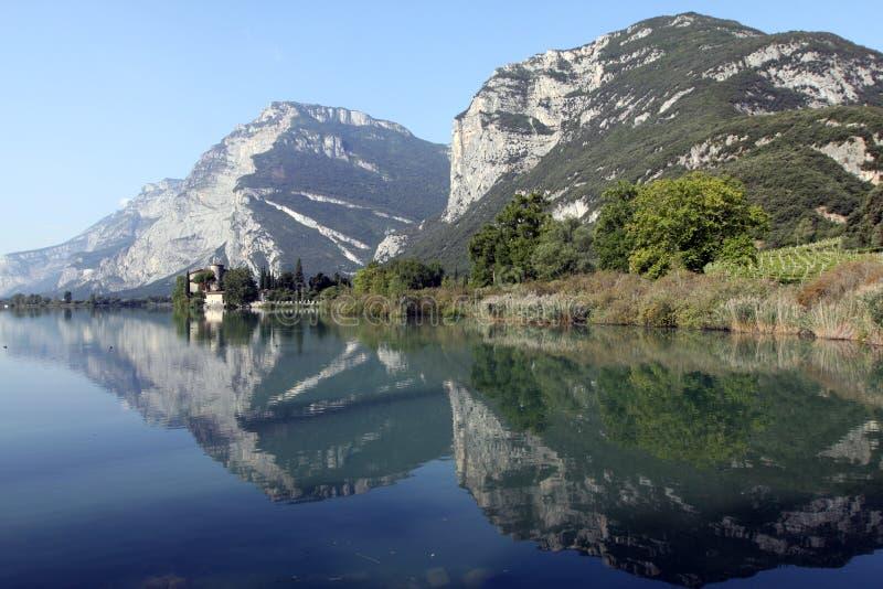 Lake Toblino stock image