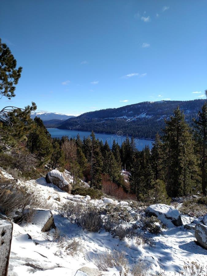 Lake in Trukee royalty free stock image