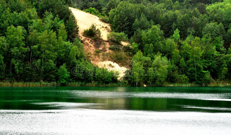 Lake Turquoise. In Pomerania in Poland stock image