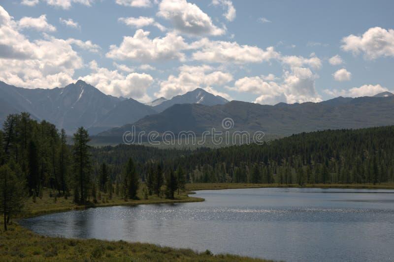 Lake Uch-Köl, Republic of Gorny Altai, southern Siberia. Mountain Lake Uch-Kel, Republic of Gorny Altai, southern Siberia stock photos