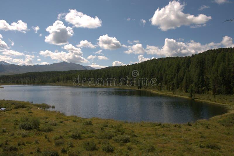 Lake Uch-Köl, Republic of Gorny Altai, southern Siberia. Mountain Lake Uch-Kel, Republic of Gorny Altai, southern Siberia royalty free stock photo