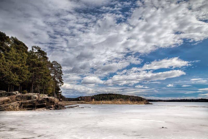 Lake vänern stock image