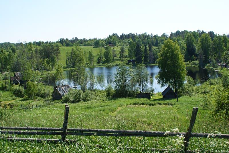 Lake, Valdai, Russia stock photo
