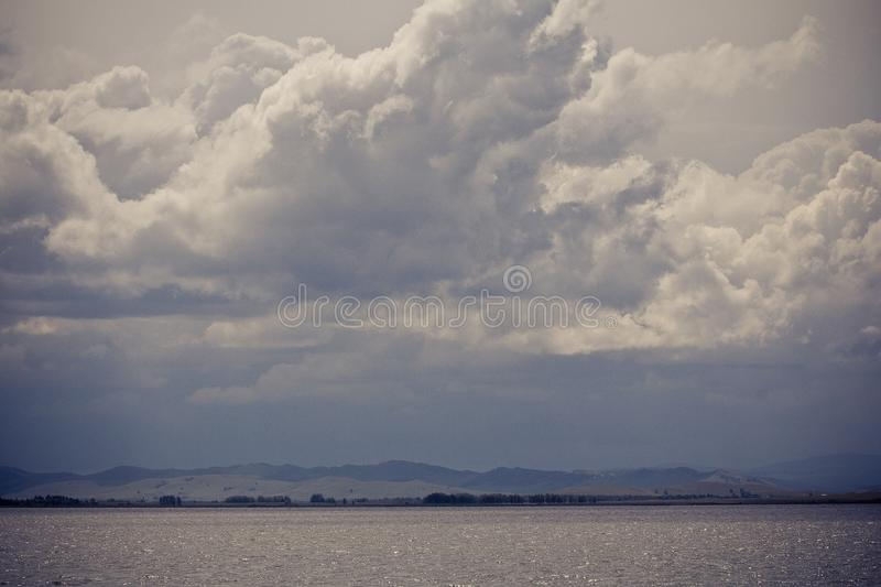 Lake in the vicinity of Magnitogorsk stock photo