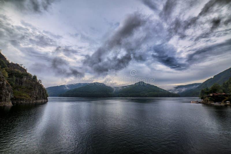 Lake Vidraru, Romania stock images