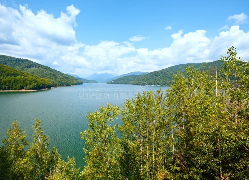 Lake Vidraru summer landscape (Romania). royalty free stock photography