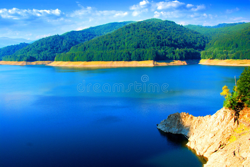 Lake Vidraru And Surroundings Royalty Free Stock Photo