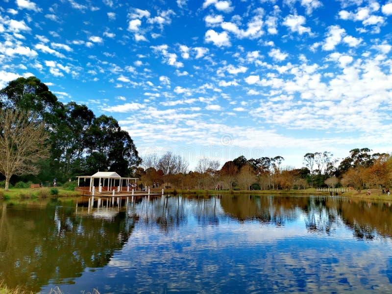 Lake view @ Fagan Park Sydney stock photos