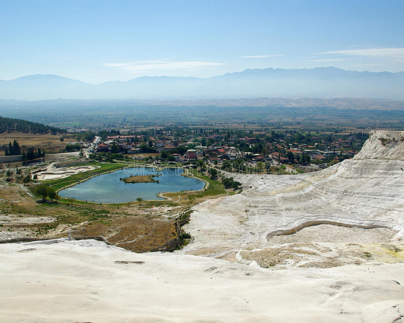Download Lake view in Pamukkale stock photo. Image of expanses - 11777738