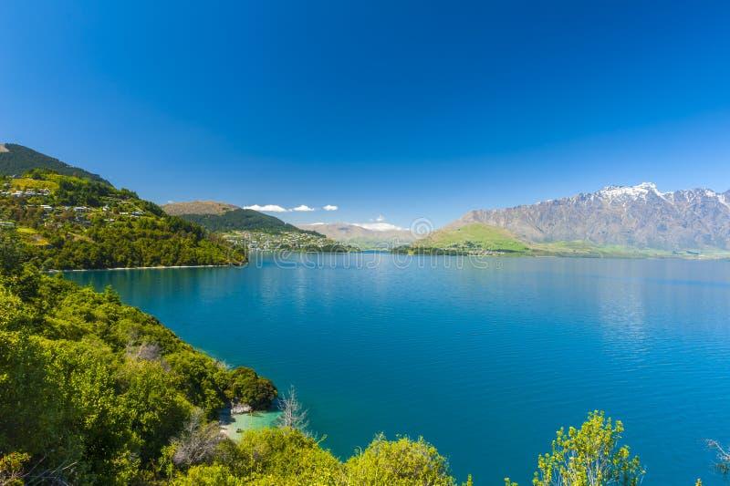 Lake Wakatipu arkivbilder