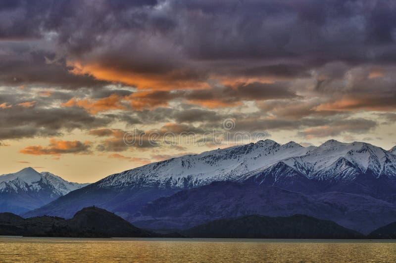 Lake Wanaka royaltyfria foton