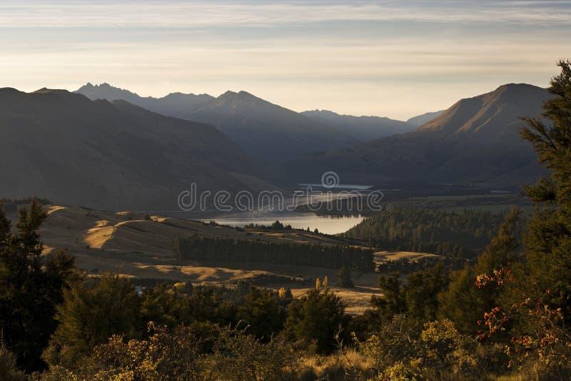 Lake Wanaka from Mount Iron royalty free stock photos
