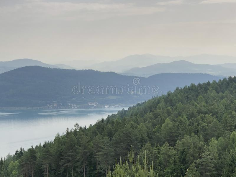 Lake Woerthersee - East stock images