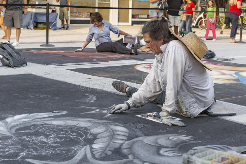 Lake Worth, Florida, USA Fab 23-24, 2019 25Th Annual Street Painting Festival stock photography
