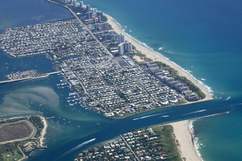 Lake Worth Inlet in Palm Beach County, Florida royalty free stock photos