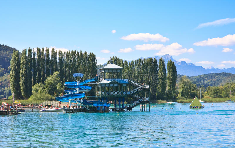 Lake Worth (Worthersee). Austria royalty free stock photography