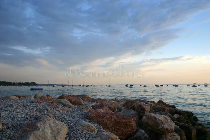 Download Lake with yachts stock photo. Image of sailboat, boat - 94637292