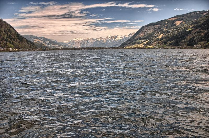 Lake Zell am See royalty free stock photography