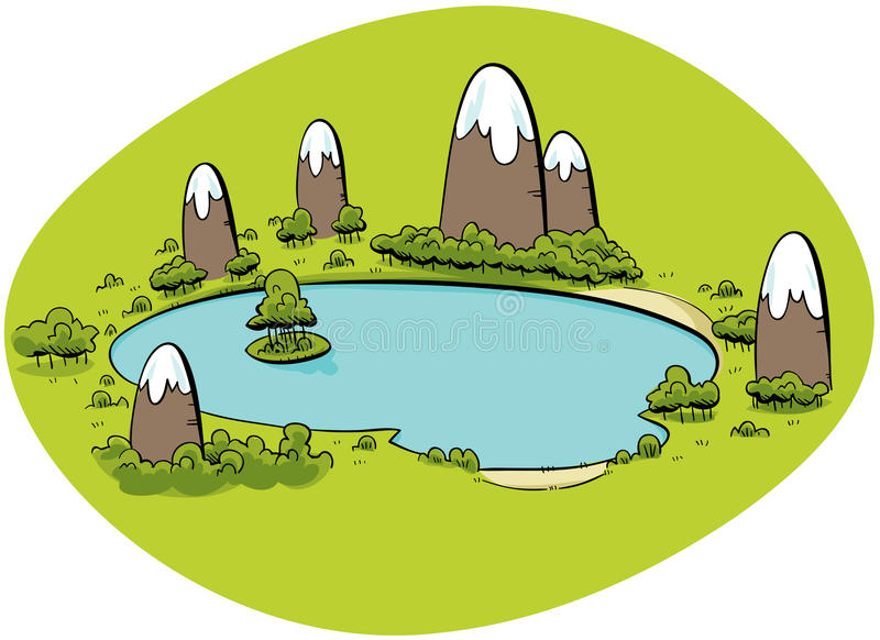 lakeberg royaltyfri illustrationer