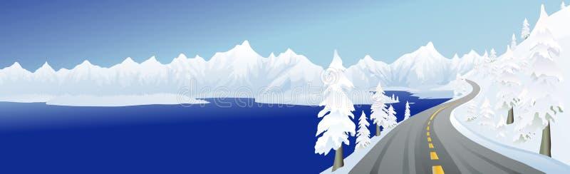 lakebergväg stock illustrationer