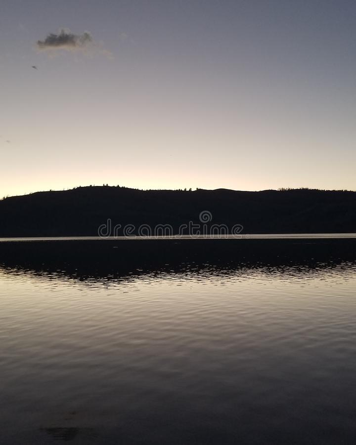 lakefront arkivfoto