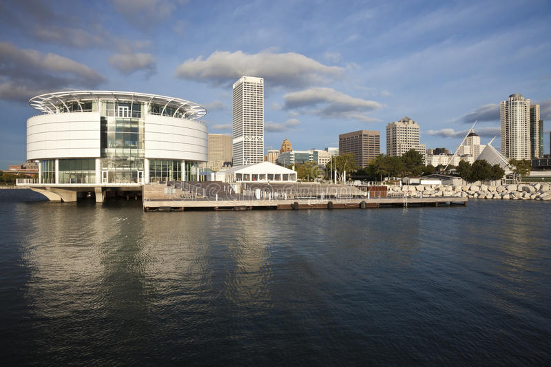 lakefront sedda milwaukee royaltyfri foto