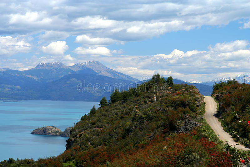 LakeGeneral Carrera Arkivbilder