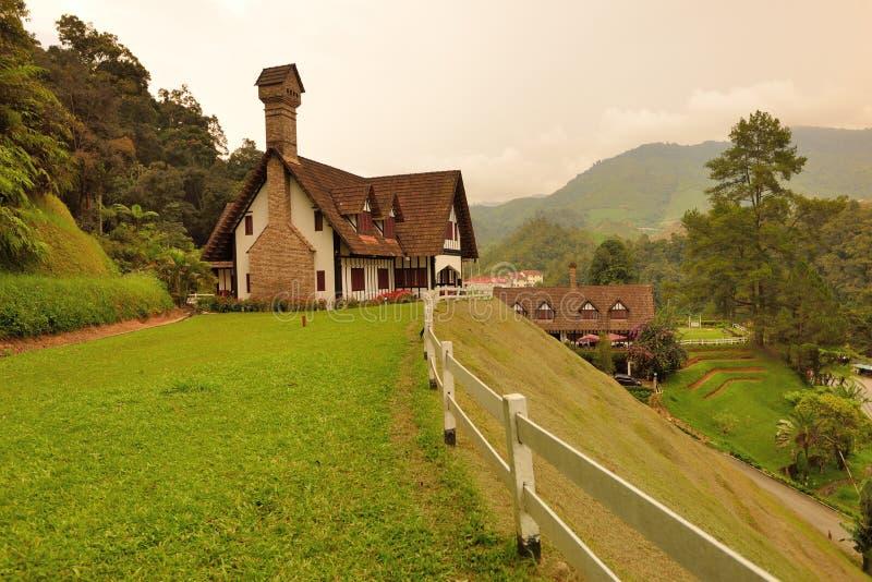 Lakehouse, гористые местности Камерона стоковая фотография rf