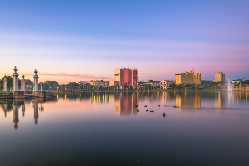 Lakeland, Florida, USA Skyline immagini stock