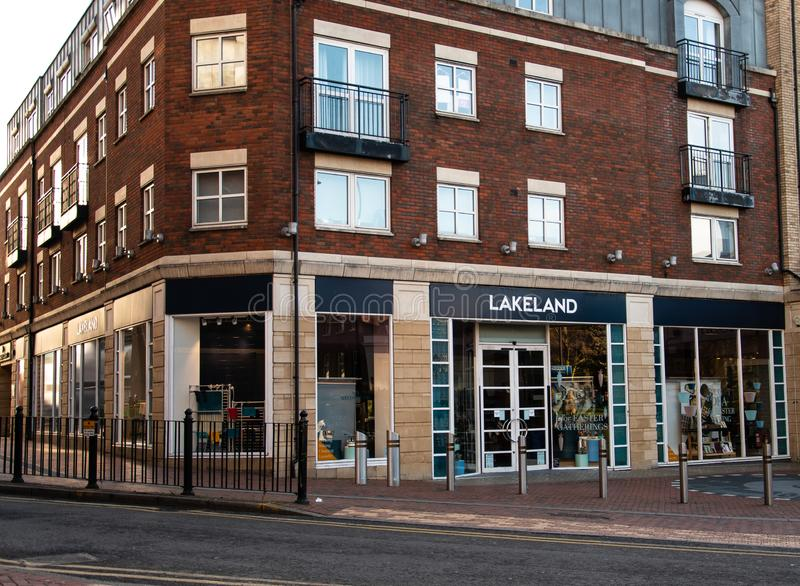Lakeland Store Reading. Reading, United Kingdom - March 17 2019:   The entrance to the Lakeland Kitchen supplies store on Minster Street royalty free stock photo