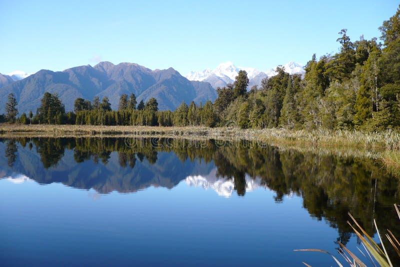 lakematheson New Zealand arkivfoto