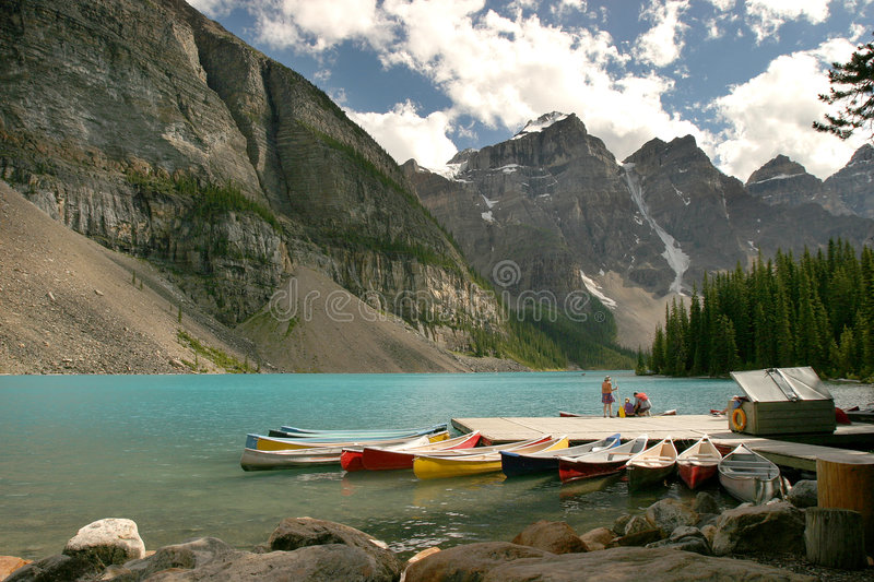lakemoraine royaltyfri foto