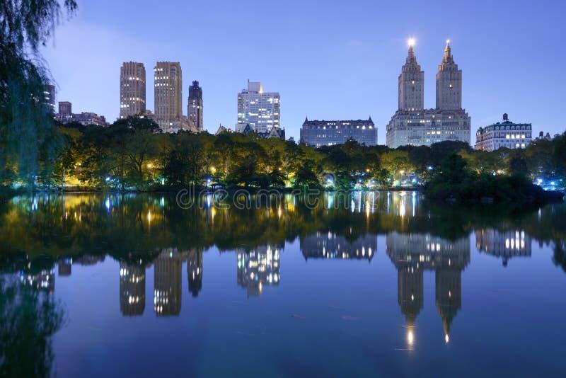 Laken i Central Park New York City fotografering för bildbyråer