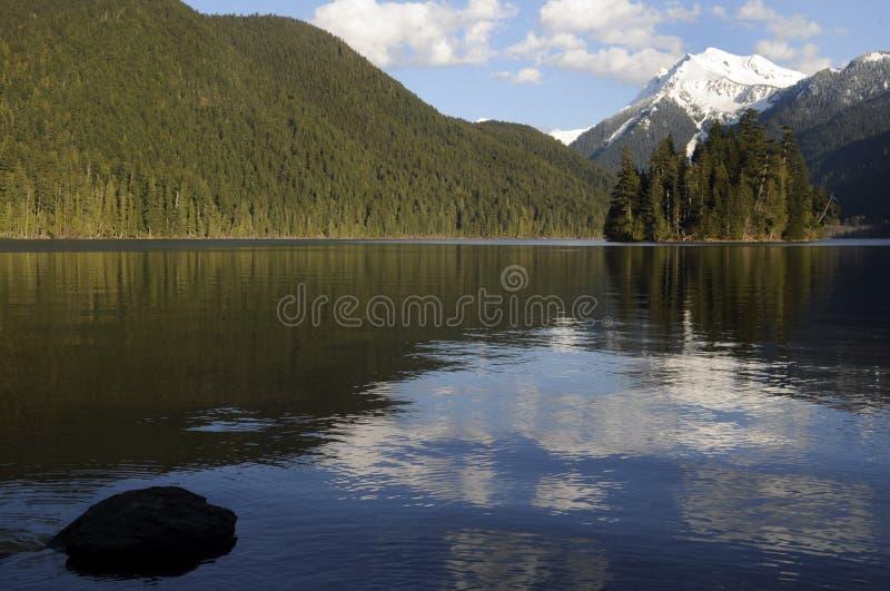 lakepackwoodtillstånd washington fotografering för bildbyråer