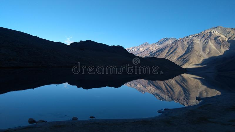 Lakes high altitudes stock photo