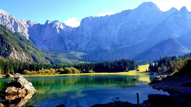 Lakes in Italy stock images