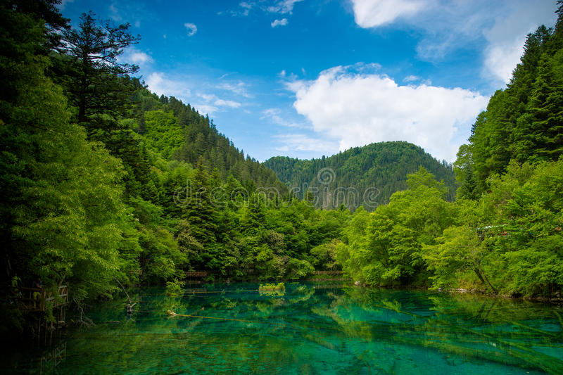 Lakes of Jiuzhaiguo royalty free stock images