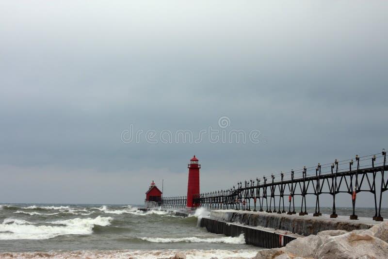 Lakes-Leuchttürme lizenzfreie stockfotografie