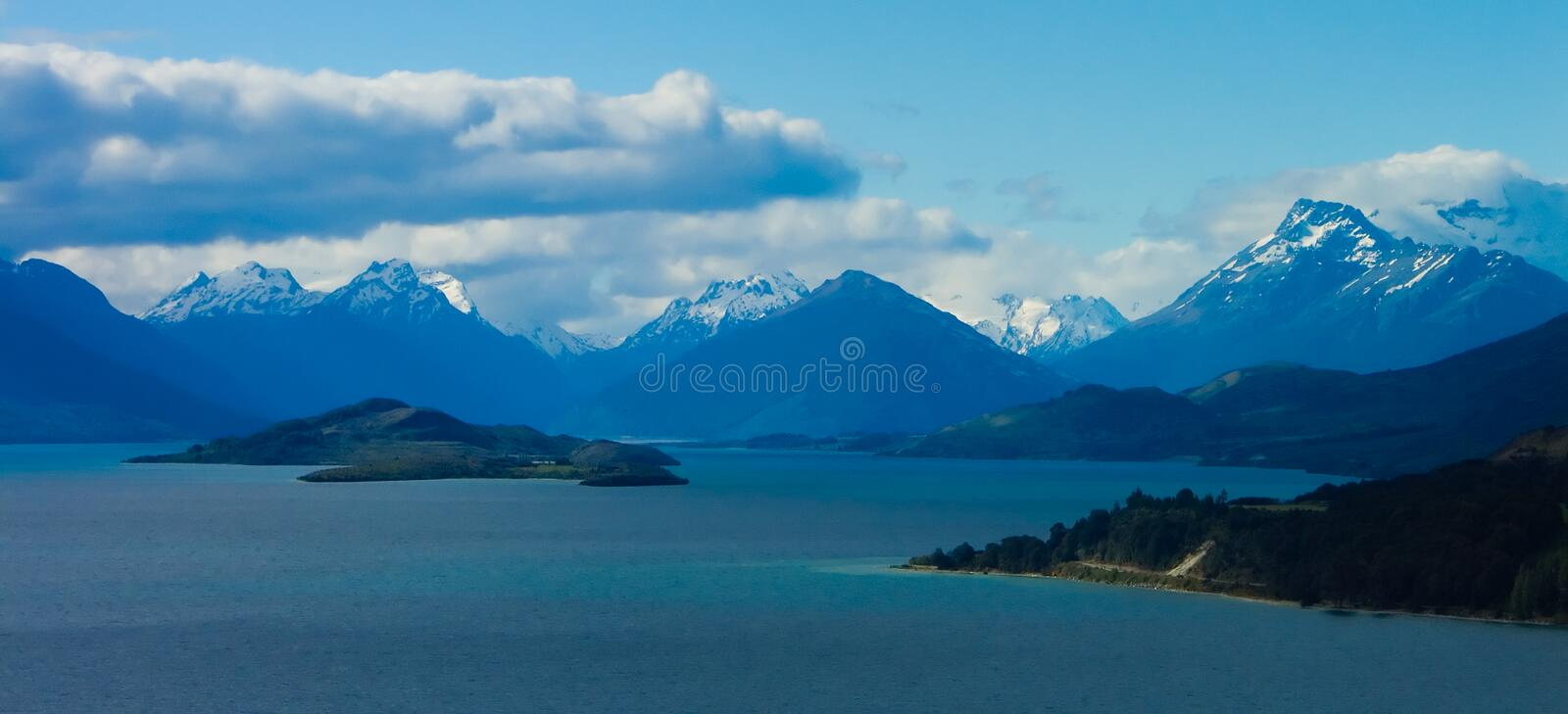 Lakes and Mountains stock images