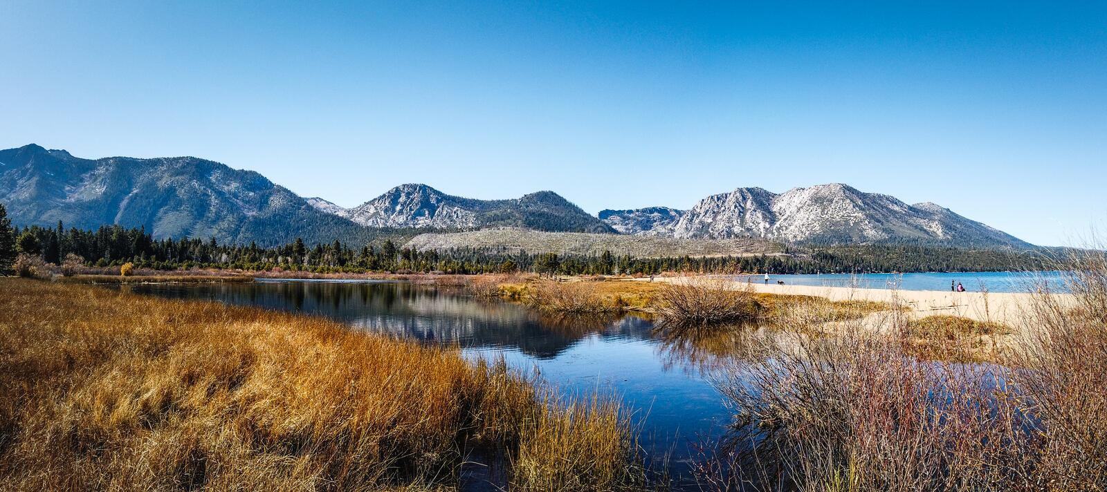 Lakes and mountains in Eldorado National Forest, California royalty free stock image