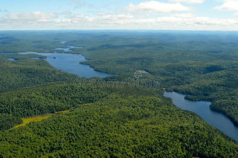 Lakes from the sky royalty free stock photography