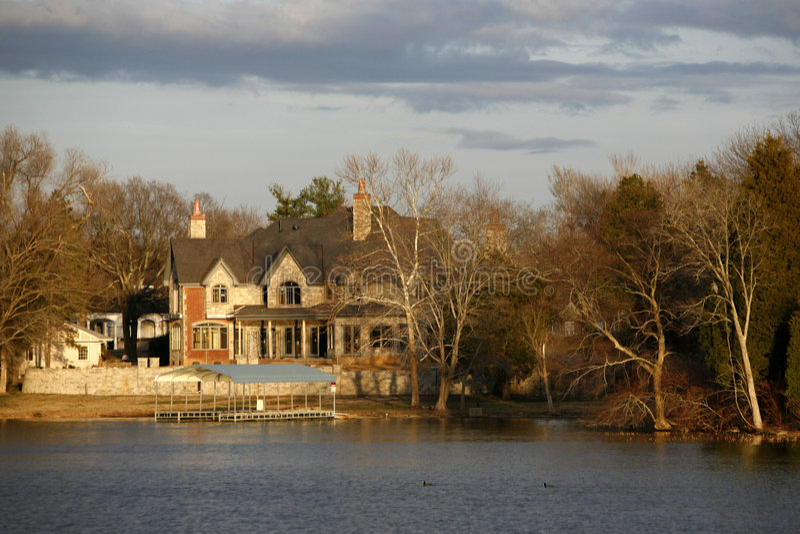 lakes strömförande nashville royaltyfri foto