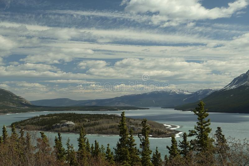 Lakes near Carcross in Canada royalty free stock photography