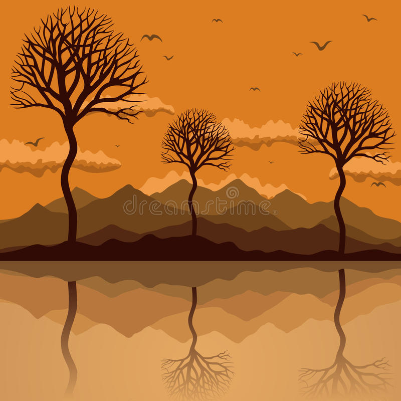 Lakes2 ilustración del vector